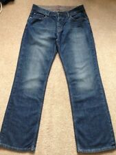 NEXT Loose Fit Blue Jeans Bootcut Size 34 R Button Fly