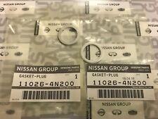 NEW OEM NISSAN INFINITI Rear Differential Drain Plug Gasket Set of 2 110264N200