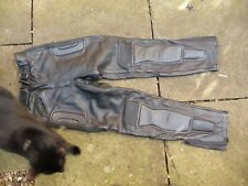 "Motorcycle leather trousers BIKERS PARADISE black LADIES size 12 29"" i/ leg"