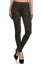 WINTER SUBLIMATION  LEOPARD PRINT FRENCH TERRY SEAMLESS LEGGINGS SBM15FT04
