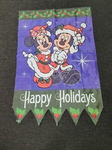Mickey Mouse Walt Disney Large Banner Flag Christmas Minnie Mouse Santa