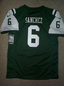 *IRREGULAR* New York NY Jets MARK SANCHEZ nfl NIKE Jersey YOUTH KIDS BOYS (xl)