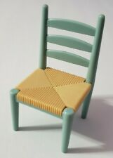 FISHER-PRICE LOVING FAMILY DOLLHOUSE FURNITURE DINING ROOM SINGLE BLUE CHAIR