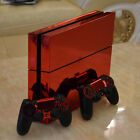 Red Glossy Decal Skin Sticker for Playstation 4 PS4 Console+Controllers