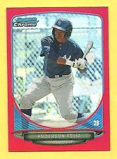2013 Bowman Chrome Anderson Feliz RC #2/10 Red Refractor Mini Yankees Rookie