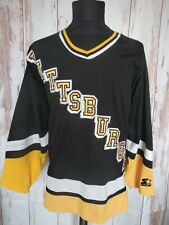 Pittsburg Penguins NHL Hockey Jersey Starter Hockey Shirt Sz L