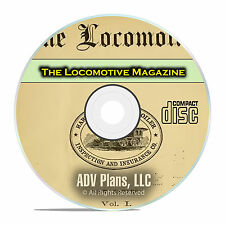 The Locomotive Magazine, Railroading Steam Boiler History, PDF CD DVD E48