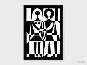 Alexander Girard Black And White  print Pretty Poster Best Gift Great Home Decor