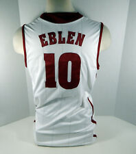 Alabama Crimson Tide Ben Eblen #10 Game Used White Jersey Bama00227
