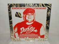 "Vintage The American Dream Dusty Rhodes 12"" x 12"" Carnival Mirror – Damaged"