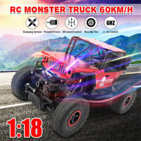 1/18 Scale RC Car 2.4G 4WD High Speed Remote Control Off Road Electric Car Toy