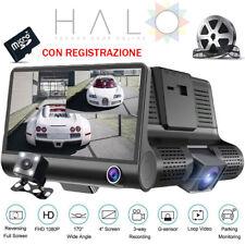 MONITOR AUTO DVR 3 TELECAMERE REGISTRAZIONE SU SD KIT RETROMARCIA FULL HD 1080p