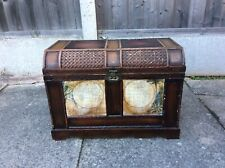 Vintage Solid Wood Double Globe Trunk