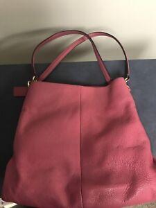 Coach Phoebe Pebbled Leather Shoulder Bag w/COA