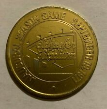 Sept 19, 1971 New England Patriots & Shaefer Beer Inaugural Season Game Coin