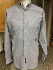 Tommy Hilfiger Men's 15 1/2 34Striped Long-Sleeve Button Down Casual/Dress Shirt