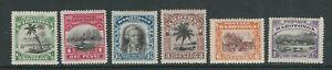 COOK ISLANDS 1920 KGV PICTORIALS (Scott 61-66) F/VF MH