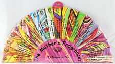 NATURAL INCENSE GIFT FAN 84 MINI STICKS 21 MOTHER'S FRAGRANCES masala handrolled