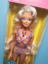 Mattel 1992 VTG Glitter Beach Barbie Doll #3602 Indonesia Version NRFB