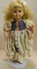 """Vintage Paradise Galleries Premier Edition Bo Peep Porcelain 13"""" Doll New In Box"""