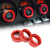 Car Air Conditioner Switch Knob Ring AC Knobs Cover Red Fits Fits Subaru BRZ 86