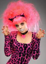 Da Donna backcombed Neon Rosa Parrucca Stregatto non include le orecchie
