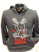 "Men's Black Keys ""Lucky Charm"" Pullover Hoodie with Embroidery/Pockets - Black"
