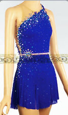 Royal Blue Skating Dress Figure skaitng Dress purple lycra For Competition