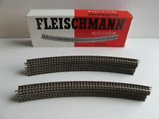 Fleischmann 9135, 13 Stück gebogenes Gleis R4 30°, Radius 430 mm Neu OVP Spur N