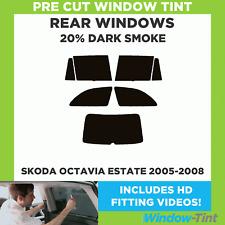 Skoda Octavia Kombi 2005-2008 20% dunkel hinten Vorgeschnittene Scheibentönung