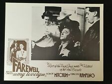 FAREWELL MY LOVELY Robert Mitchum 1975 Australian Lobby Card Noir Marlowe Doped