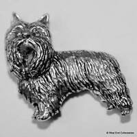 Yorkshire Terrier Dog Pewter Pin Brooch -British Hand Crafted- Yorkie, Silky