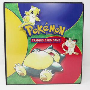 VINTAGE 1999 NINTENDO POKEMON TRADING CARD GAME BINDER COLLECTOR'S CHECKLIST