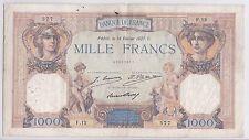 BILLET 1000 FRANCS CERES ET MERCURE 15 FEVRIER 1927 C 577 F 12