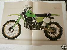 A042-POSTER KAWASAKI KX250 MX CROSS MOTORCYCLE 1979 POSTER