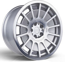 Alloy Wheels (4) 8.5x18 3SDM 0.66 Silver Polished Face 5x100 et35