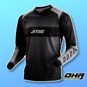 JITSIE L3 KOZMOZ Trials Jersey Shirt Top - Black / Grey - NEW Beta TRS Vertigo