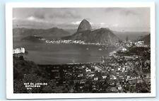 *Botafogo City View Rio de Janeiro Brazil RPPC Vintage Real Photo Postcard C61