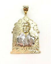 10k Gold Jesus Malverde Narco Saint Sinaloa Pendant