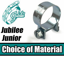 Jubilee Junior Hose Clips A2 Stainless Steel / Mild Steel Pipe Clamps Worm Drive
