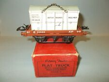 Hornby O Gauge LOW SIDED WAGON with INSULATED CONTAINER C.1955 Near Mint Boxed