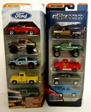 New 1:64 Matchbox Diecast Ford Chevrolet Chevy Pickup Classic Trucks 5 Pack Lot