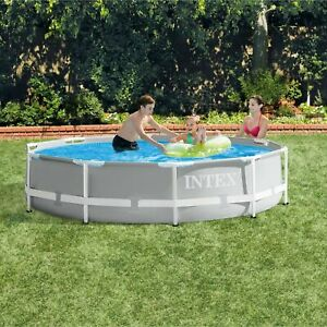 Intex 26700EH 10ft x 30in Prism Metal Frame Above Ground Swimming Pool (No Pump)
