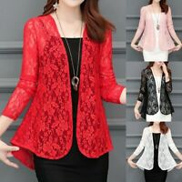 Newest Women Cardigan Sun Shirt Blouse Lace Chiffon Sunproof Long Sleeve Outwear