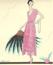 Gazette Du Bon Ton A. Rzewusky APRES LA DANSE De Worth Fashion POCHOIR Art Deco