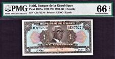 Haiti 1979 One Gourde TYVEK Pick-230Aa GEM UNC PMG 66 EPQ