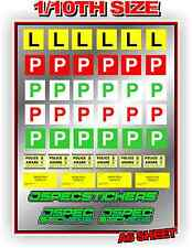 P PLATE SET 1/10 RC SCALE CRAWLER DRIFT CAR VINYL STICKERS DECAL ACCESORIES A6