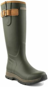Ariat Burford Womens Adjustable Straps Closure Welly Boot In Olive UK Size 5 - 8