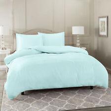 Duvet Cover Set Soft Brushed Comforter Cover W/Pillow Sham, Baby Blue - Full