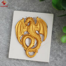 3D Dragon Mould Flexible Silicone Cookie Cake Mold Fondant Chocolate Mould Tool